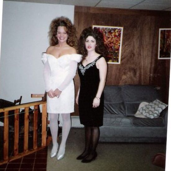 For Mariposa. Photo Of My Youth Embarassingly big hair in 1991. That's Me on the right.