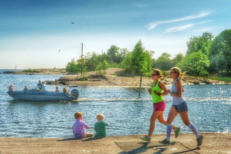 Boat, boys and girls on a Sunday afternoon - Helsinki, Finland - 29 May 2016 Relaxing Girls Jogging Helsinki Cloud - Sky Sea Sunshine Enjoying The Sun Shore Suomi Scandinavia Blue Sky Finland G7x Nordic Countries Water Baltic Sea Baltic Sunday Afternoon Leisure Time The Street Photographer - 2017 EyeEm Awards Live For The Story