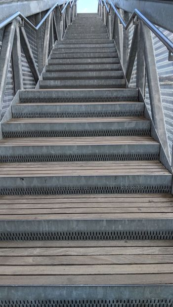Stairway to Upper Level Pier 15 Stairway Staircase Pier 15 New York City New York Architecture Travel Travel Photography Good Times Followme