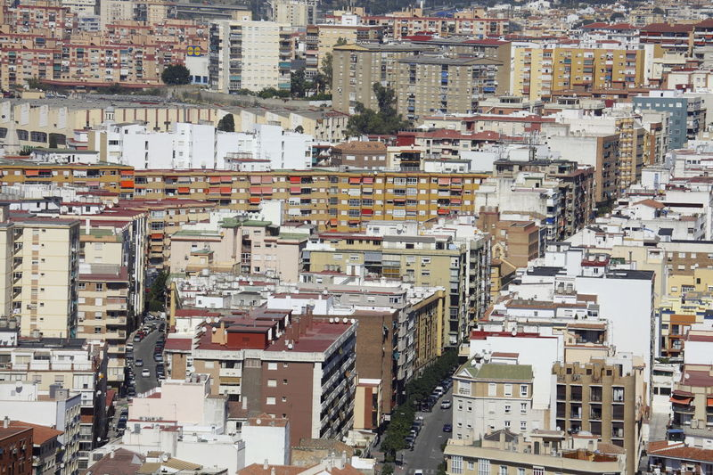 Block of Flats, Malaga, Andalusia, Spain Abstract Aerial View Andalucía Architecture Block Blocks Building Exterior Business Finance And Industry City Cityscape Crowded Day Flat Flatiron Building High Angle View House Malaga Outdoors People Residential Building Social Issues SPAIN Travel Destinations Urban Skyline Urban Sprawl