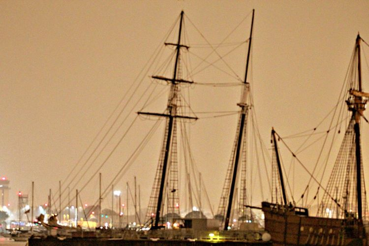 Boat Chris Hoar Daybreak Maritime Mast Mode Of Transport Moored Nautical Vessel No People Outdoors Part Of Port Rigging Rope Sailboat Sailing San Diego Ca Ships Tall Ships Transportation Travel Water
