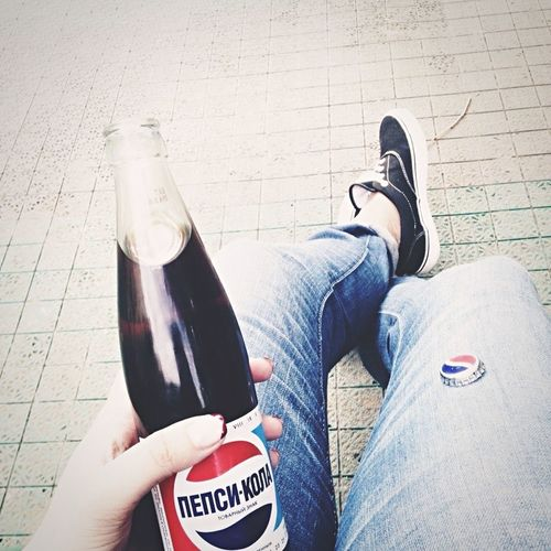 Drink Lifestyles Bottle Human Body Part Leisure Activity One Person Food And Drink Drinking Real People Personal Perspective Refreshment Relaxation People Adult Adults Only Sport Human Hand Outdoors Day Close-up First Eyeem Photo Amazing Russia Pepsi Life