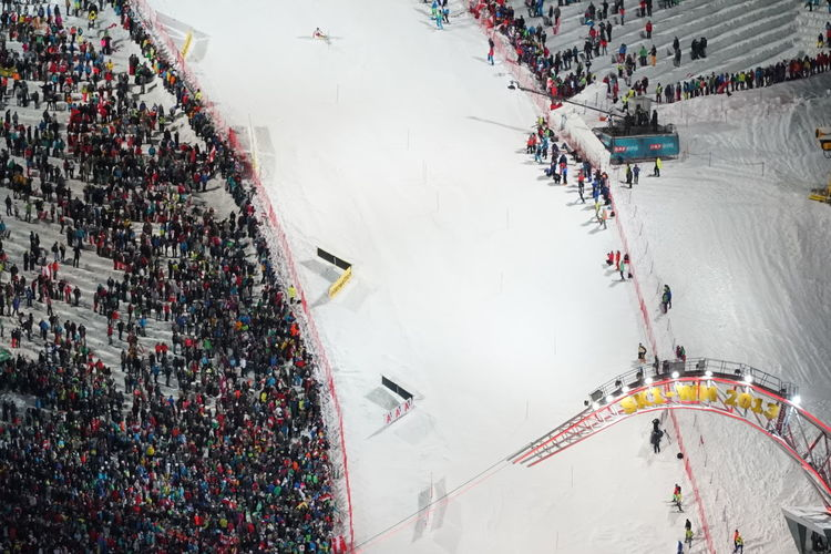 Skirace The Nightrace Architecture Built Structure City Cold Temperature Crowd Day High Angle View Human Body Part Ice Rink Large Group Of People Outdoors People Schladming Snow Sport Sports Race Stadium Winter Worldcup