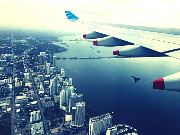 A Buenos Aires, desde Miami ✈️ City No People Transportation Cityscape Building Exterior Water Architecture Airplane Built Structure Travel Outdoors Travel Destinations Airplane Wing Skyscraper Day Nature Sky Sea Flying First Eyeem Photo USA Photos USA Miami FL Usa 🇺🇸☀️ Miami Beach The Architect - 2017 EyeEm Awards