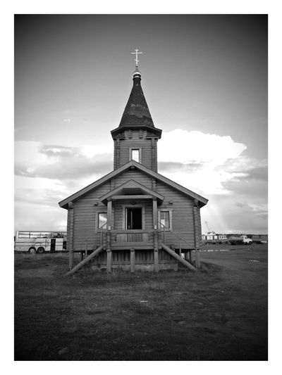 Building Exterior Architecture Built Structure Sky Cloud - Sky No People Outdoors Day Church Ortodox Church Solovetskie Ostrova Rabocheostrovsk Ortodox Religious Architecture Wooden Structure Wooden House Wooden Church