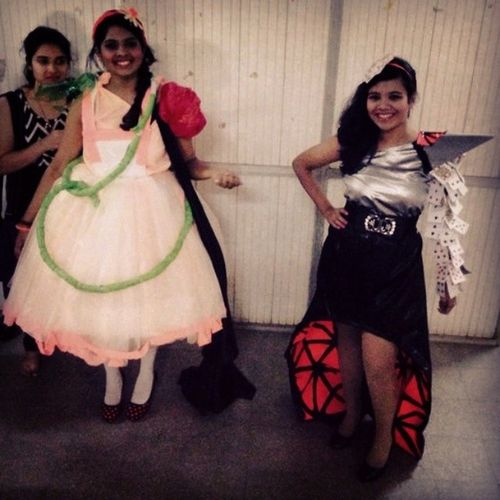 From this to that. Old and new Alice! Alice Fashionshow Collegefest Conflux neon teamwork Like they say 'teamwork works'