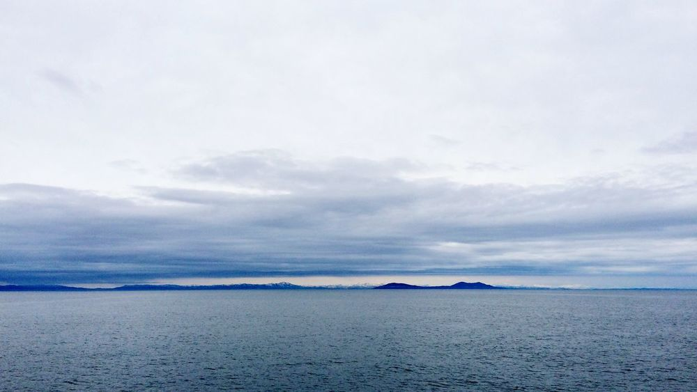 View From Ship Japan Clouds And Sky Mountains Sea And Sky
