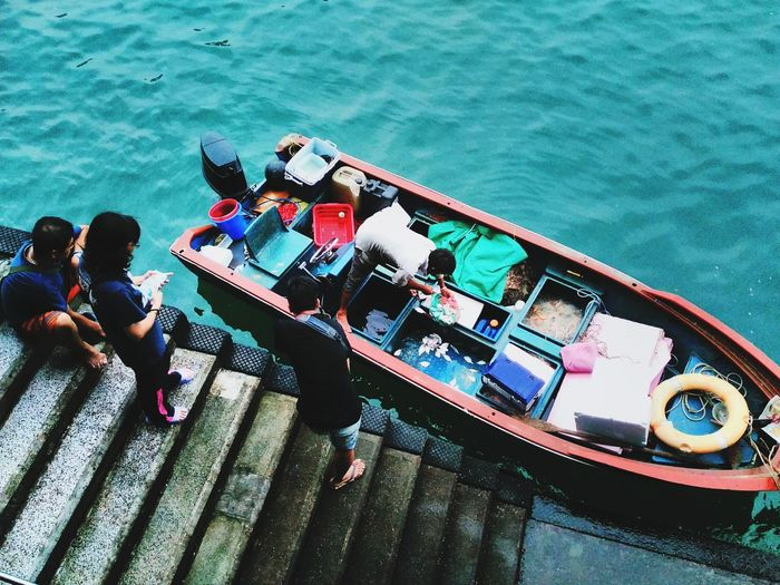 Mix Yourself A Good Time Fishing Boat Water Market HongKong Stanley Hong-Kong Freshfish Nautical Vessel Real People First Eyeem Photo EyeEmNewHere