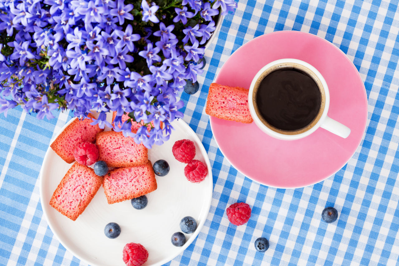 High Angle View Of Black Tea On Table