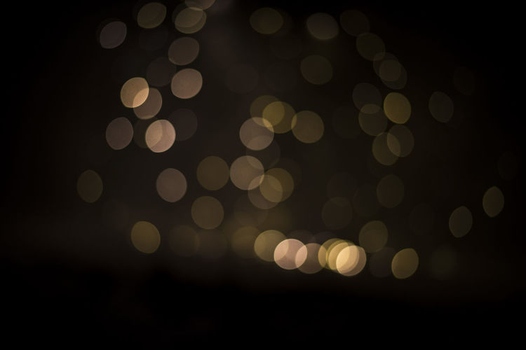 Backgrounds Black Background Bokeh Close-up Defocused Illuminated Night No People Outdoors Pattern