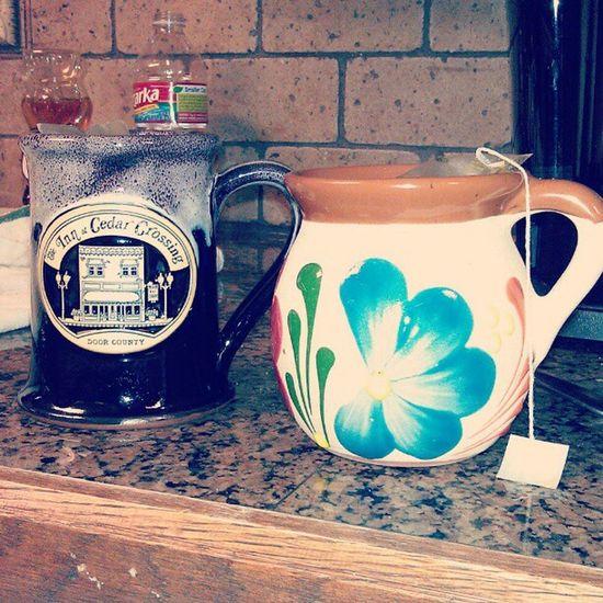 His & her's Zen tea for studio time. Love it :) Recording Tea Tazo Zen herbaltea boyfriend