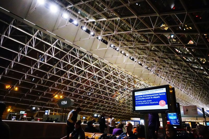 Night Tourism Journey Travel Paris, France  Charles De Gaulle Airport Sony RX100 IV