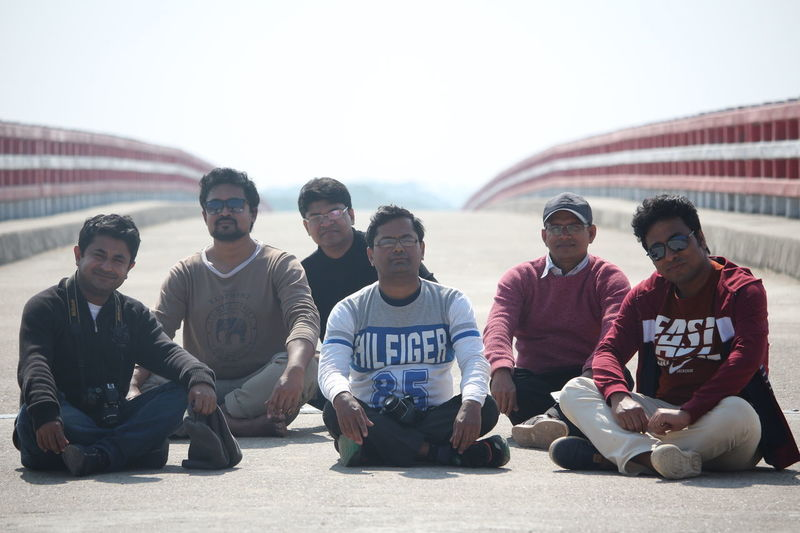 On the Bridge over Maya River, Bhola Day Friendship Men Outdoors People Portrait Real People Togetherness