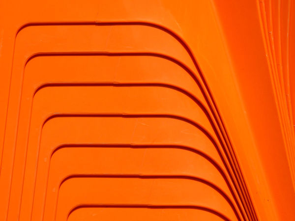 Chair Minimalist Shape Stack Abstract Art Close-up Closeup Design Desıgn Furniture Furniture Design Light And Shadow Lines, Shapes And Curves Minimalism Orange Chair Orange Color Pattern Pile Plastic Plastic Chair Striped