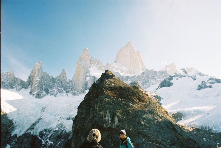 Adventure Analogue Photography Beauty In Nature Blue Cold Temperature Day Landscape Leisure Activity Lifestyles Mountain Mountain Range Nature Feel The Journey Scenics Season  Sky Snow Tourism Tourist Tranquil Scene Tranquility Showcase June Weatherr