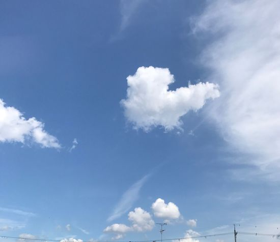 Cloud - Sky Sky Low Angle View Nature Beauty In Nature Day Blue Sky Only No People Outdoors Scenics Tranquility
