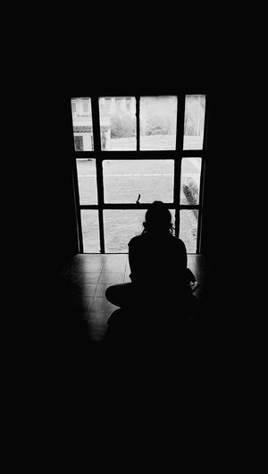 Black And White Window Window View Silhouette Silhouette Of A Girl Fine Art Photography At The Museum At National Museum Showcase July Eyeemphoto TakeoverContrast Monochrome Photography Press For Progress