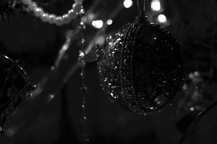 #blackandwhite #Canon #canon600d #Christmas #christmastime #december  #INDOOR #photography Christmas Decoration Christmas Lights Christmas Ornament Crystal Glassware Focus On Foreground Illuminated Night No People Shiny