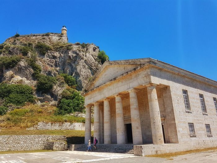 Old Fortress in Corfu City City Sky EyeEmNewHere Nopeple Outdoors Oldtown Architecture Building Building Exterior Temple Mountain