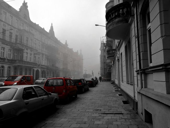 Huawei P9 Leica Wroclove Wroclaw, Poland Car Wet Rain Snowing City Architecture Snow Built Structure No People Cold Temperature Outdoors Day