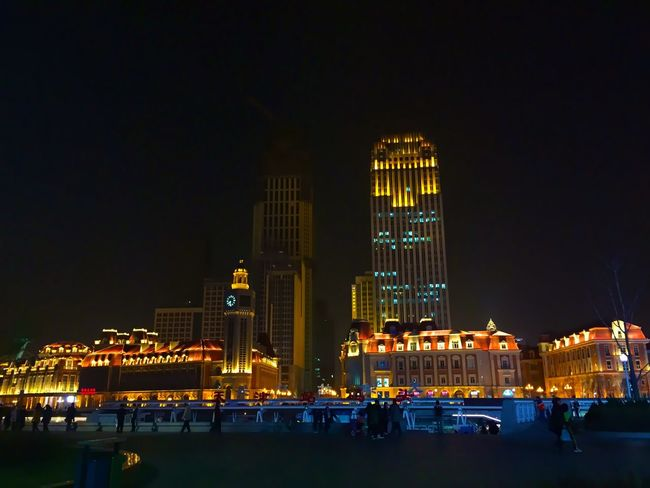 Home Tianjin Night Lights Depressing Days Architecture