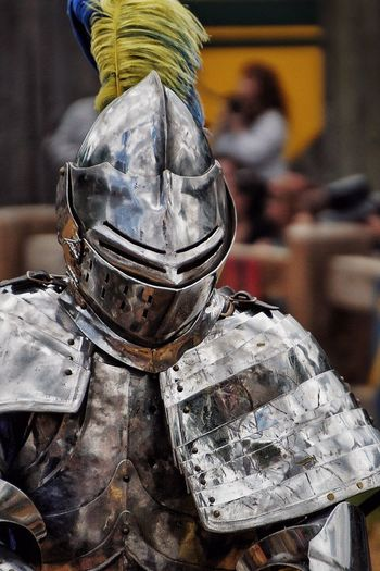 Close-up of knight in armor
