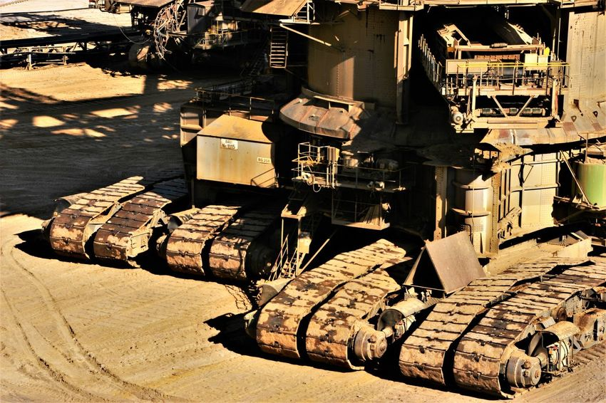 Brown Coal Excavation Fotoart Garzweiler Industrial Building  Industrial Photography Industriekultur Lignite Excarvation Lignite Excavator Lignite Mining Lignite Mining Area Machinery Machinery Close Up Machinery Part No People Outdoors Sunlight