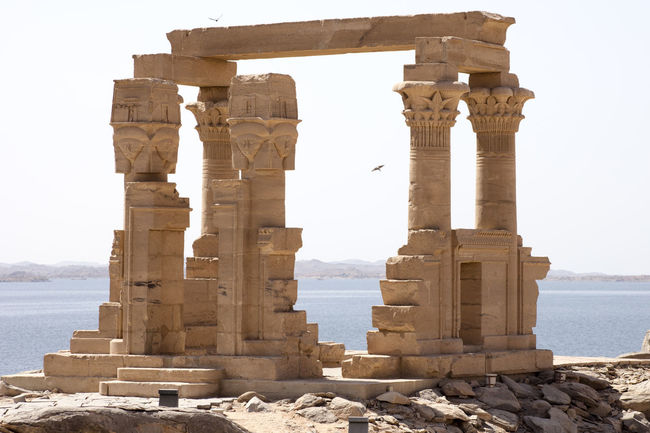 Lake Nasser Egypt Egypt Egyptian Ruins Kertassi Temple Lake Nasser Ancient Ancient Civilization Archaeology Architectural Column Architecture Built Structure Egyptian Egyptian Architecture Egyptian Culture History Old Ruin Ruined The Past Tourism Travel Travel Destinations Water