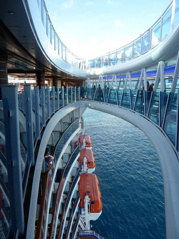 Boat Ship Cruise Ship Cruise Architecture Open Sea Lifeboat Looking Down