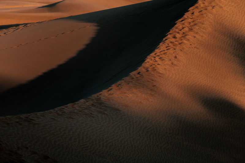 Sand Dune Sand Land Desert Landscape Tranquility Nature No People Arid Climate Climate Scenics - Nature Environment Tranquil Scene Non-urban Scene Beauty In Nature Pattern Remote Brown Shadow Day Outdoors