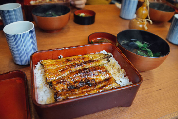 Rice With Grilled Eel