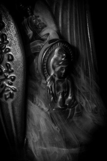 Close-up portrait of statue of buddha