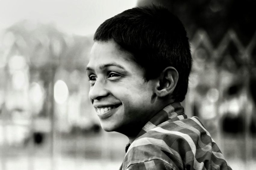 always tryin' to live a life that brings smile on other's face... Smiling ^_^ Headshot Childhood Portrait One Person People Child Smiling Happiness Day One Boy Only Outdoors