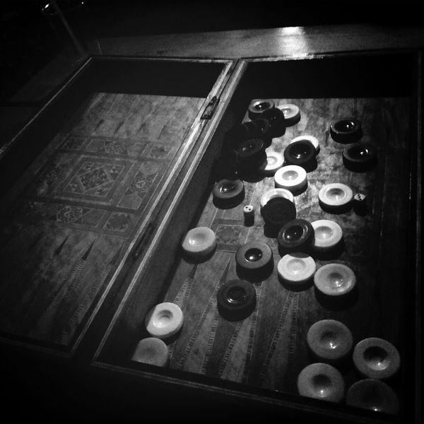 Monochrome Light And Shadow Black And White Backgammon