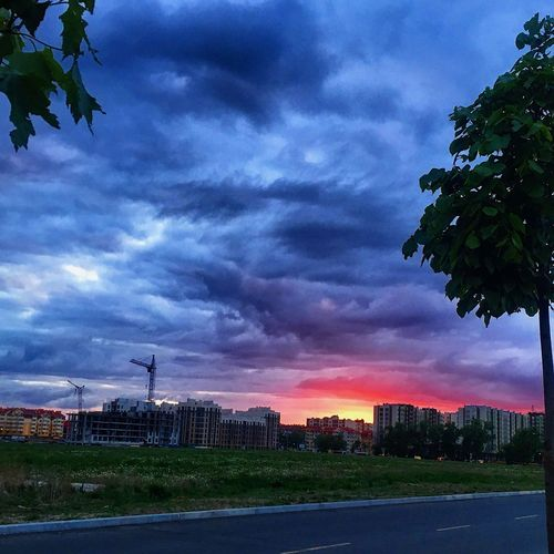 Безумное небо Sky Nature Nature Photography Weather Sunset Springtime Spring Cloud - Sky First Eyeem Photo
