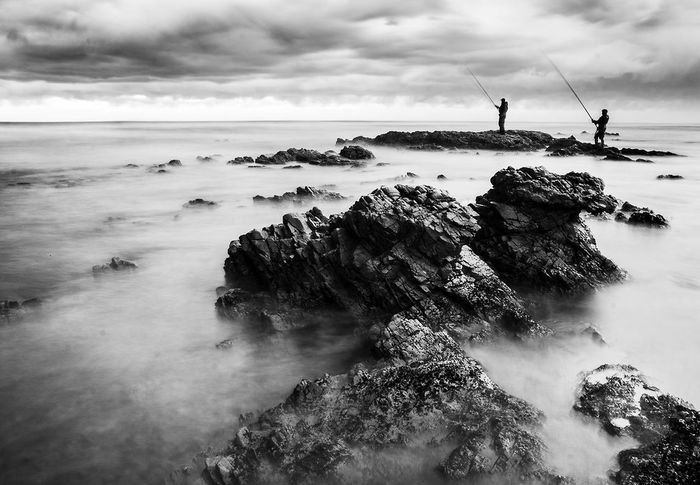 Monochrome Photography Sea Black And White Horizon Over Water Beauty In Nature Slowshutter Bnwlandscape