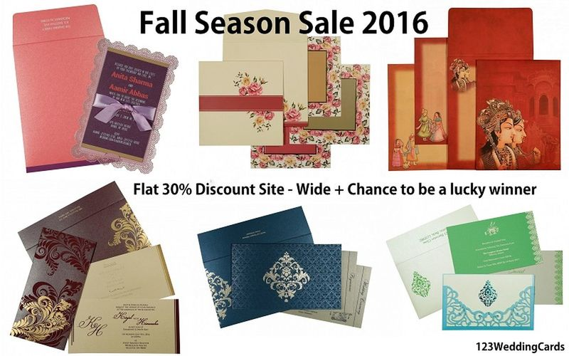 Fall Season Sale 2016 123WeddingCards Fall Fall 2016 Fall Sale Fall Season Offeres Fall Weddings Wedding Cards Wedding Invitations