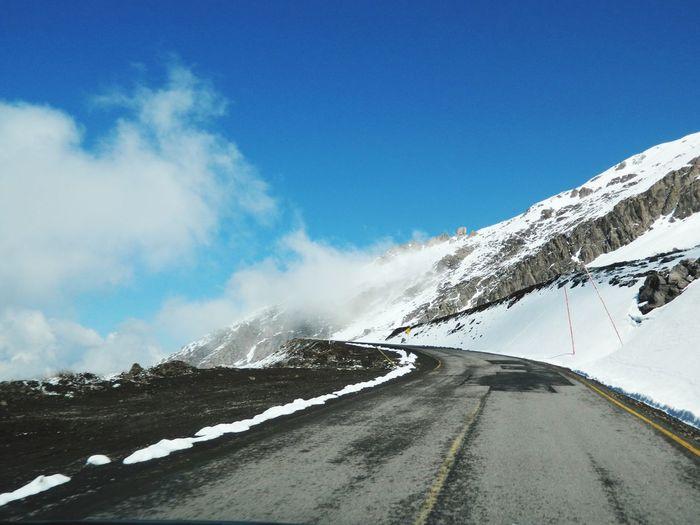 Snow Road Winter Sky Cold Temperature Transportation The Way Forward