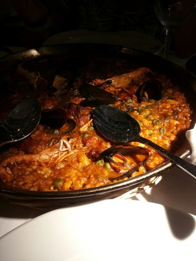 Paella SPAIN Mediterranean Food Eating Seafood Lunch Scialo Foodgasm Barcellona