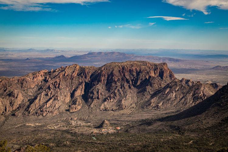 Mountain canyon landscape against sky