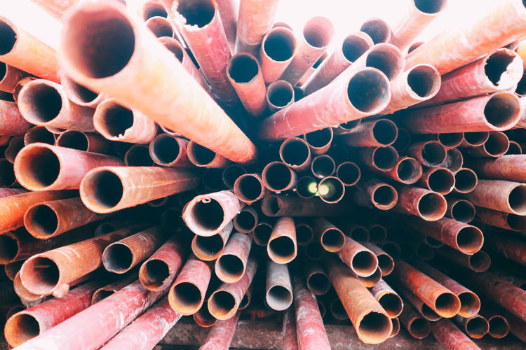 Background Construction Equipment Group Industrial Industry Iron Metal Metallic Pipe Pipeline Red Steel Structure Texture Tube