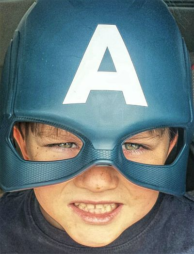My Hero Enjoying Life Cute Adorablekids Avengers Check This Out Fun Times Closeup With Family