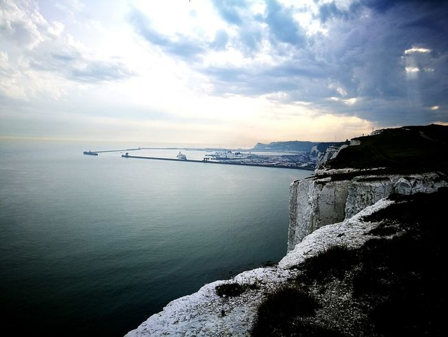 Outdoors Water Nature Beauty In Nature Beach Landscape Sea White Cliffs Of Dover Port Of Dover