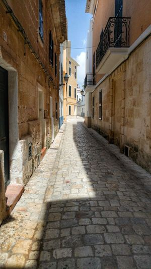 Building Exterior No People Old Town Alley Day Outdoors Built Structure Summer Deserted Street Ciudadella (Menorca). Menorca Heat
