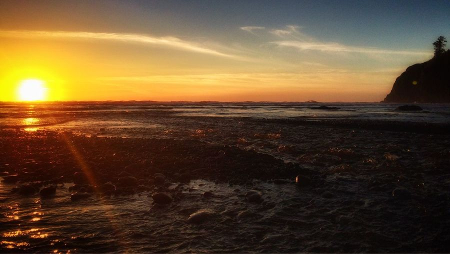 Beautiful Sunset on the Pacific Coast at Ruby Beach