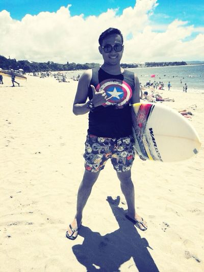Summer Travel Surfer Pantai Kuta (Kuta Beach) Beginner