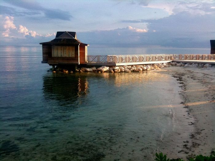 Montego Bay, Jamaica Water Sea Cloud - Sky Tranquility Scenics Horizon Over Water Sand Beach Carribean Jamaica