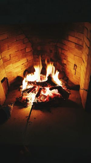 Fireplace Warmth Coldnights