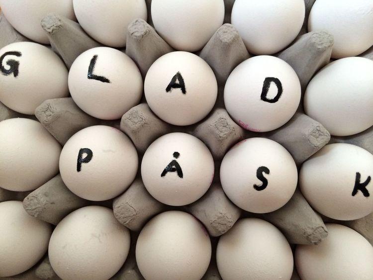 Glad påsk (happy Easter) Easter Glad Påsk Swedish Eastern Egg Egg Carton Happy Easter No People Påsk