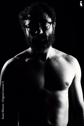 Man Photoshoot Blackandwhite Beard